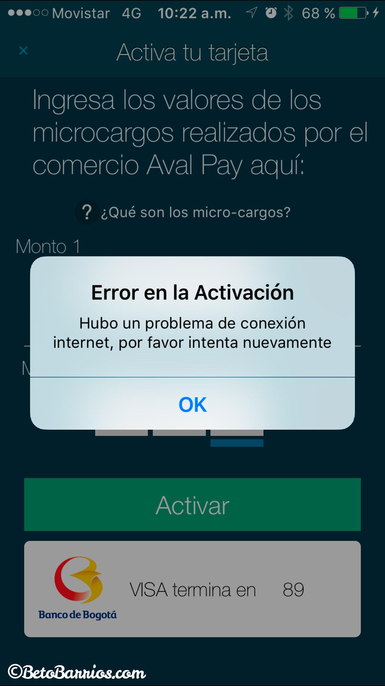 Aval-Pay-Error